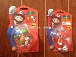 2014 New Arrival Nintendo Super Mario Keychain Figure with football