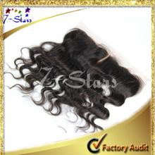 Peruvian Body Wave 100% Virgin Human Hair Top lace front closure piece