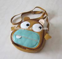little kids small cartoon school leather shoulder bag