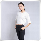 New fashion ladies cable sweater and knitwear