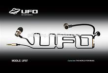 The metal fashion earphone super quality unique cool earphone elagant earphone UF07