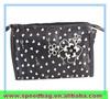Fashion Black wave point cosmetic bag handbag for lady zipper bag