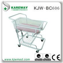 Manual steel baby cot gas spring operated for new born baby