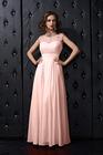 Sheath/Column Scoop Neck Ankle-Length 3 Colors Embellished Chiffon Bridesmaid/Evening Dresses[GYD056]
