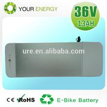 36V 13Ah rear rack electric bike battery for Germany market lipo battery for e-bike