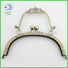 handbag antique brass vintage metal purse frame
