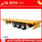 China Truck trailer type Steel material ISO CCC and SGS certification 3axles 40ft platform trailer for container transportation