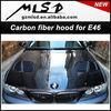 Auto tuning styling E46 2-Door GTR Floss Style Vented Carbon Fiber Hood bonnet car parts .