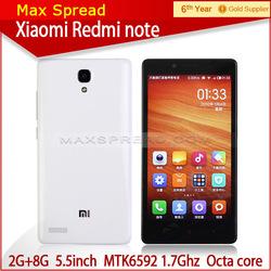 Xiaomi Note MTK6592 Octa Core 5.5 inch 2 GB 8GB 5.0MP13.0MP Camera HD IPS Screen 3200mAh OTG cell phone
