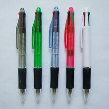 Custom Promotional Plastic 4 Ink Writing Ballpen