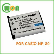 NP-80 NP80 Camera Battery for Casio Exilim EX-Z1 EX-Z1BE EX-Z1BK EX-Z1GD
