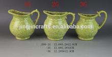 mini stoneware vase,green flower vase for roses,peonies,hydrangeas,dahlias and jacaranda