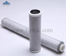 20 inch & 10 micron Block Carbon / Activated Carbon Filter Cartridge for liquid filtration