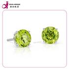 New Fashion peridot cz gemstone single stone earring models jewelry