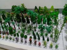 Divers fil de fer et en plastique mini modèle arbres pour railroad mise en page, Modèle architectural mise en page / modèle de formation mise en page