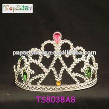 HOT!!! Miss and bridal heart beauty wedding and princess tiara crown