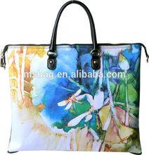 2015 new flower lady bag Fashion PU italy gabs multifunction lady hand bag
