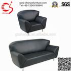 European design black leather sofa set price