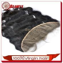 Beamyshair cheap price 4*13 closure, full cuticle remy lace front closure brazilian body wave