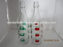 Frutas de vidro pintado garrafa de vinho / pintura colorida alta garrafa de vidro branco