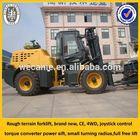 rough terrain forklift, 4WD,CE, valve control forklift