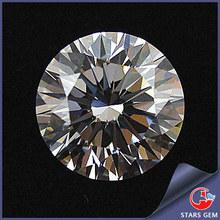 White Round Gemstone Lab Created Loose Diamond