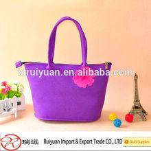 High class attrative ladies handmade felt handbgs hand carry bags