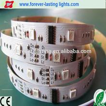 DC5V WS2811 IC buit in 5050 White/black PC led digital strip