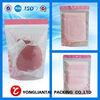 2014 customized Custom Printed Clear Plastic Zipper Garment Bag Hanger Hole