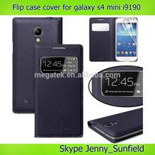 Cell Phone case super slim auto sleep wake flip cover case for samsung s4 mini, for samsung galaxy s4 mini case