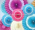 yiwu novo papel de laço doilies rosetas pinwheel cenário de suspensão leques de papel pendurado decoração de festa de aniversário de casamento dos miúdos