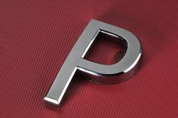 ABS 3D chrome car letter emblem, auto letter emblem, truck letter badge