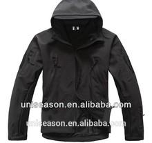 Waterproof black jacket for men