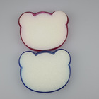 teddy shape cute plastic soap holder