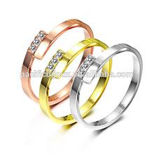 24 carati in oro rosa cz anello di fidanzamento