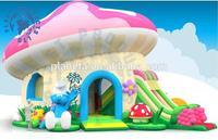 Mushroom Inflatable Bouncy Castle With Slide For Sale (PLG20-023)