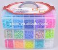 25000 pc par boîte élastiques arc bande bracelet loom kit