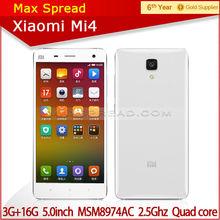 "100% original Xiaomi Mi4 Mobile Phone 5"" 13MP Quad core 3GB RAM celular original phone"