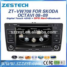 ZESTECH 2014 best price Car DVD Gps Navigation system for VW Skoda Octavia with buletooth,ipod,RDS,3G +factory