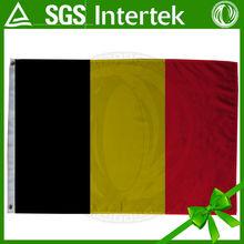 de calidad superior se utiliza para los coches bélgica la venta caliente de la venta customed rojo amarillo negro bélgica nacional de bandera y la bandera