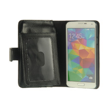 lichee universal new leather folding wallet case for iphone 5