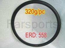44mm carbon bicycle road tubular rims, 16-32H available, basalt brake surface