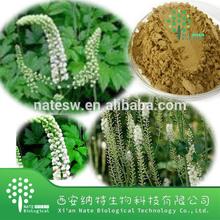 High quality Black Cohosh Extract 5% Triterpenoid Saponins Powder by UV