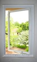 American style uPVC crank open window with chain winder,uPVC manual hand crank window