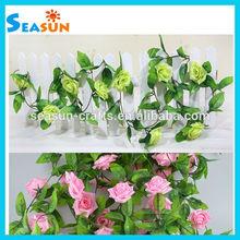 Silk Flower Vine Ivy Artificial Rose Garland Home Wedding Garden Decor