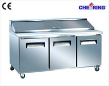 Model KT2 3 doors pizza refrigerated table with CE made in china
