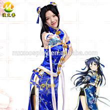 Japanese Anime Love Live School Idol Project Sonoda Umi Sexy Cheongsam Cosplay Costume Women Halloween Party Costume