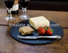 Kinslate Slate Tableware Slate Pizza Tray Round,Slate Plate for Pizza,Slate Food Tray