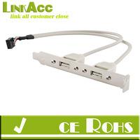linkacc js-156 2 Port USB 2.0 Rear Panel Expansion Bracket to Motherboard USB Header