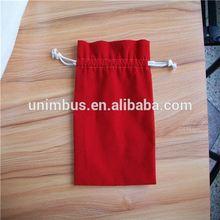 velvet material bag for Santa gift